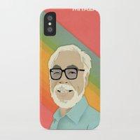 hayao miyazaki iPhone & iPod Cases featuring Miyazaki by Virtual Window