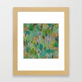 Jungle Tigers by Veronique de Jong Framed Art Print