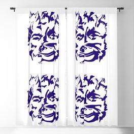 face2 blue Blackout Curtain