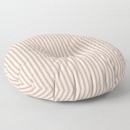Wild MeerKat Brown Mattress Ticking Narrow Striped Pattern - Fall Fashion 2018 Floor Pillow