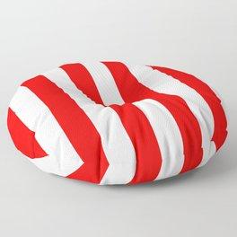 Holidaze Stripe Red White Vertical Floor Pillow