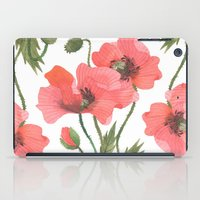poppies iPad Cases featuring POPPIES by Oana Befort