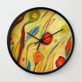 Under a Sky of Peaches and Cream Wall Clock