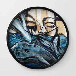 Woman of the Sea Wall Clock