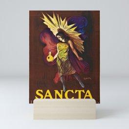 Vintage Sancta liqueur merveilleuse de l'abbaye Advertisement Poster by Leonetto Cappiello Mini Art Print