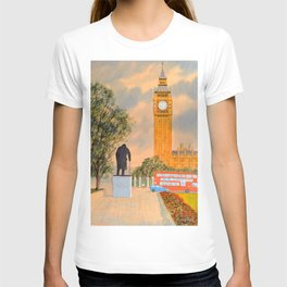Churchill And Big Ben Westminster London T-shirt