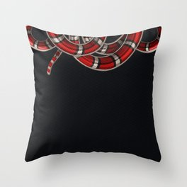 Coral Snake Throw Pillow