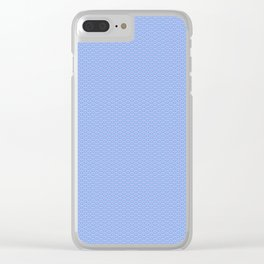 Blue Sky Seigaiha Pattern Clear iPhone Case