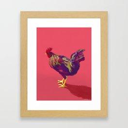 FAUVE ROOSTER Framed Art Print