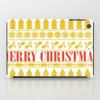 merry christmas iPad Cases featuring Christmas Merry! by Fimbis