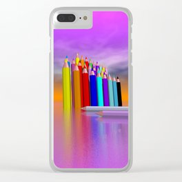 time to draw a picture -3- Clear iPhone Case