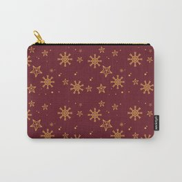 Gold Snowflakes 3 Carry-All Pouch