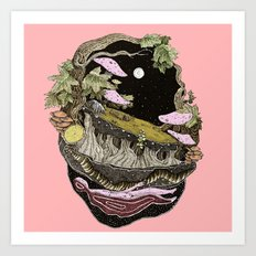narute pink back Art Print