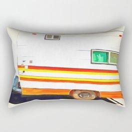 Vintage Camping Trailer Pop Rectangular Pillow