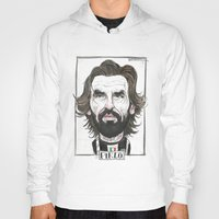 pirlo Hoodies featuring ANDREA PIRLO by BANDY