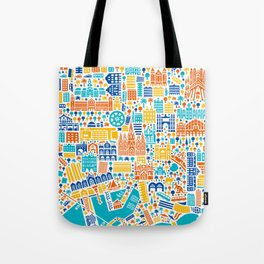 Vianina Barcelona City Map Poster Tote Bag