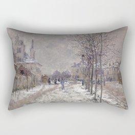 The Boulevard de Pontoise in Argenteuil, Snow Rectangular Pillow