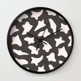 Ghosts (Pattern) Wall Clock