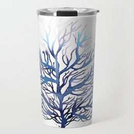 Blue Coral, Ocean Art, Surf Decor Travel Mug