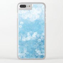 Bubble Bath Blue Clear iPhone Case