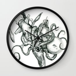 Going Down Wall Clock