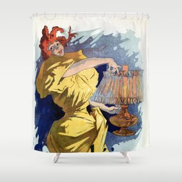 Kerosene oil  by Jules Cheret Shower Curtain