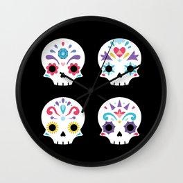 Cute sugar skulls B Wall Clock