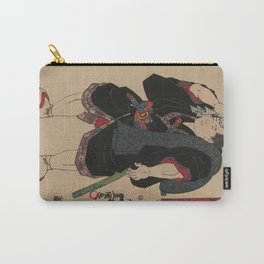 Sumo Wrestler Japanese Woodcut Block Print Carry-All Pouch