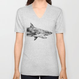Great White Shark Unisex V-Neck