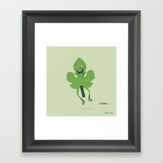Flashing Fig Leaf Framed Art Print