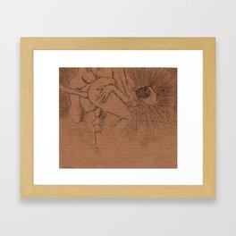 Evil Light or Hidden Lust II Framed Art Print