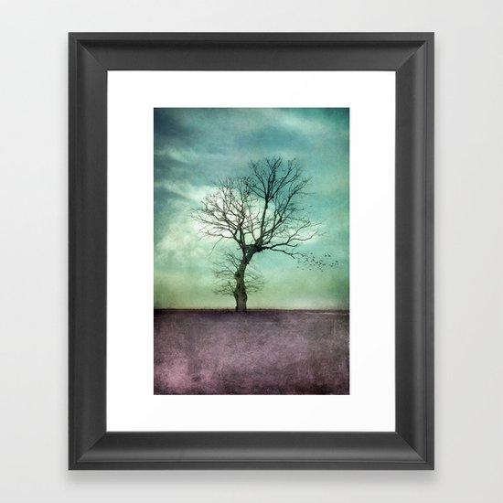 ATMOSPHERIC TREE I Framed Art Print