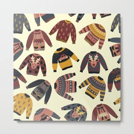 Christmas Holidays Ugly Sweaters Metal Print