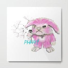 Pink Bunny Metal Print