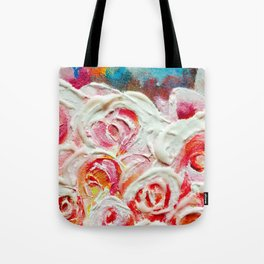 Roses on Fire Tote Bag