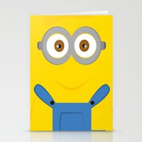 minion Stationery Cards featuring minion by fatimakhaled95