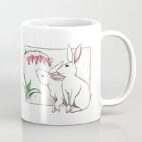 rabbits Mugs featuring Rabbits by LyndaParker