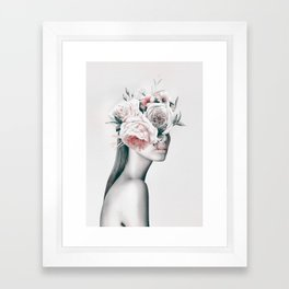 WOMAN WITH FLOWERS 11 Framed Art Print