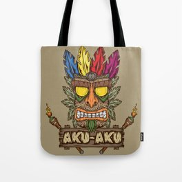 Aku-Aku (Crash Bandicoot) Tote Bag