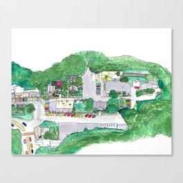 Town Square Canvas Print