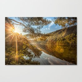 Morning over lake Wicklow Mountains Canvas Print