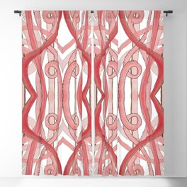 Pink Lines of Abstract Art Blackout Curtain