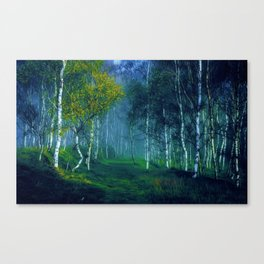 White Birch Forest, New England Landscape Canvas Print
