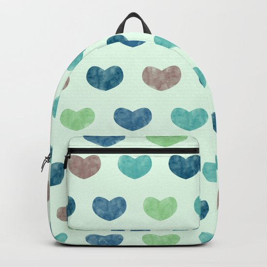 Colorful Cute Hearts V Backpack