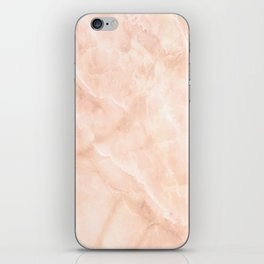 Pale Pink Marble iPhone Skin