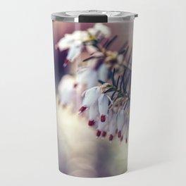 White Heather Calluna Flower Travel Mug