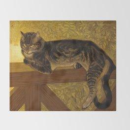 """Théophile Steinlen """"Cat on a Balustrade"""" Throw Blanket"""