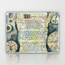 "Calligraphy of the poem ""IF"" by Rudyard Kipling Laptop & iPad Skin"