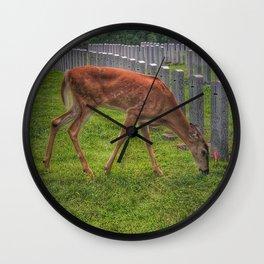 Cemetery deer Wall Clock