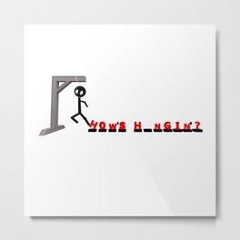 Hanger_Game Metal Print